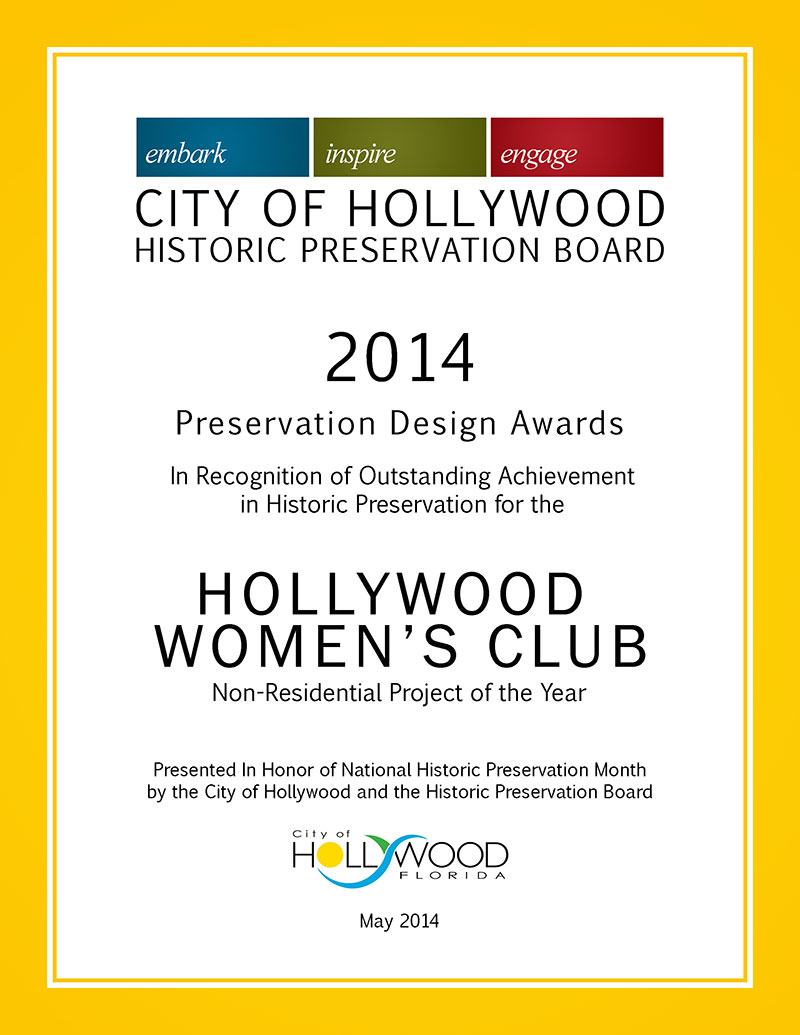 Awards And Honors – Hollywood Women\'s Club